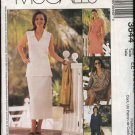 McCall's Sewing Pattern 3644 Misses Size 6-12 Easy Wardrobe Dress Tops Skirt Pants