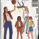McCall's Sewing Pattern 3645 Junior Size 3/4-9/10 NYNY Wardrobe Sweatpants Shorts Jacket Vest Top