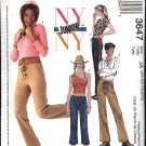 McCall's Sewing Pattern 3647 Junior Size 3/4-9/10 NYNY Wardrobe Tops Pants Capris