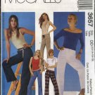 McCall's Sewing Pattern 3657 Misses Size 12-18 Low Rise Fitted Slightly Flared Long Pants Jeans