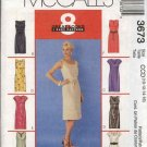 McCall's Sewing Pattern 3673 Misses Size 10-16 Easy Princess Seam Straight Dress Tie Belt