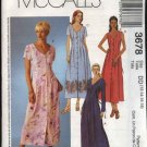 McCall's Sewing Pattern 3678 Misses Size 12-18 Button Front Pleated Dress