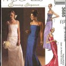 McCall's Sewing Pattern 3685 Misses Size 8-14 Evening Formal Wedding 2-Piece Dress Gown Prom