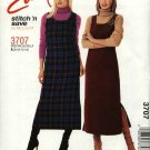 McCall's Sewing Pattern 3707 Misses Size 8-14 Easy Raised Waist Empire Jumper