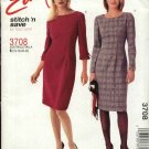 McCall's Sewing Pattern 3708 Misses Size 8-14 Easy Straight Dress