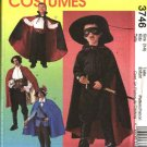 McCalls Sewing Pattern 3746 Boys Size 3-8 Costumes Pirate Swashbuckler Vampire Zorro