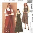 McCall's Sewing Pattern 3762 Misses Size 8-14 A-line Raised Waist Long Short Jumper