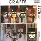 McCall's Sewing Pattern 3778 Christmas  Winter Decorations Lighted Snowman Ornaments