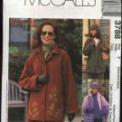 McCall's Sewing Pattern 3788 Misses Size 4-14 Woman's Day Button Front Fleece Jacket Hat Scarf