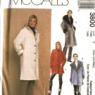 McCall's Sewing Pattern 3800 Misses Size 16-22 Lined Button Front Wide Collar Hooded Coats