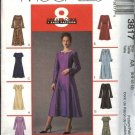 McCall's Sewing Pattern 3817 Misses Size 16-22 Classic Princess Seam Dress Neck Sleeve Variations