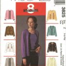 McCall's Sewing Pattern 3825 Misses Size 4-14 Jacket Cardigan Sleeveless Pullover Top Twin Set