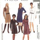McCall's Sewing Pattern 3831 Misses Size 12-18 Basic Classic Button Front Shirt Dress