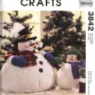 McCall's Sewing Pattern 3842 Christmas Winter Chenille Snowman Snow Child Decorations