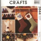 McCall's Sewing Pattern 3844 Christmas Holiday Decorations Stockings Tree Skirt Mantle Scarf