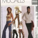 McCall's Sewing Pattern 3852 Misses Size 12-18 Fitted Low Rise Bell Bottom Pants Applique Fringe
