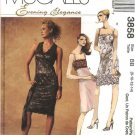 McCall's Sewing Pattern 3858 Misses Size 8-14 Formal Prom  Empire Raised Waist Short Dress