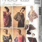 McCall's Sewing Pattern 3880 Misses Size 4-22 Formal Evening Wraps Capes Shrug Shawl