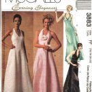 McCall's Sewing Pattern 3883 Misses Size 12-18 Evening Formal Prom Wedding Halter Dresses