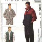 "McCall's Sewing Pattern 3885 Mens Chest Size 46-52"" Zipper Front Jacket Vest Pull On Pants"