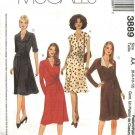 McCall's Sewing Pattern 3889 Misses Size 6-12 A-line Surplice Bodice Mock Front Wrap Dress