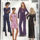 McCall's Sewing Pattern 3891 Girls Size 12-16 Wardrobe Knit Pullover Tops Pants Skirts