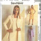 McCall's Sewing Pattern 3918 Misses Size 8-14 Sew News Wardrobe Jacket Sleeveless Dress Top Pants