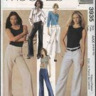 McCall's Sewing Pattern 3935 Misses 4-10 Yoke Waist Long Cropped Wide Legged Bell Bottom Pants