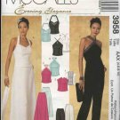 McCall's Sewing Pattern 3958 Misses Size 4-10 Formal Evening Prom Halter Tops Long Skirt Pants