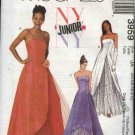 McCall's Sewing Pattern 3959 Junior Size 3/4-9/10 Formal Evening Prom Quinceanera Dress