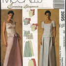 McCall's Sewing Pattern 3995 Misses Size 8-14 2-Piece Evening Gown Formal Prom Dress Top Skirt