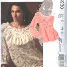 McCall&#39;s Sewing Pattern 5930 Misses Size 16-22 Pullover Tops Blouses Ruffles Short Long Sleeves