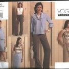 Vogue Sewing Pattern 1100 Misses Size 14-20 Easy Wardrobe jacket Top Dress Skirt Pants Suit Pantsuit