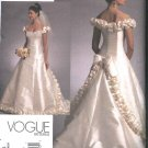 Vogue Sewing Pattern 1095 Misses Size 6-10 Bellville Sassoon Wedding Dress Bridal Gown