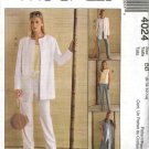 McCall's Sewing Pattern 4024 Misses Size 8-14 Easy Wardrobe Jacket Vest Duster Top Pants