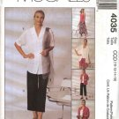 McCall's Sewing Pattern 4035 Misses Size 10-16 Easy Wardrobe Shirt Top Pants Shorts Skirt