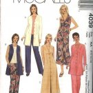 McCall's Sewing Pattern 4039 Misses Size 6-12 Button Front Loose Fitting Tunic Dress Pants