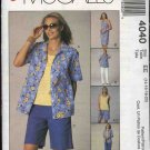 McCall's Sewing Pattern 4040 Misses Size 14-20 Easy Summer Wardrobe Shirt Top Dress Shorts Pants
