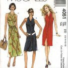McCall's Sewing Pattern 4051 Misses Size 12-18 Button Front Sleeveless A-line Summer Dress