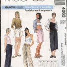 McCall's Sewing Pattern 4063 Misses Size 4-14 Easy Drawstring Cropped Long Pants Bermuda Shorts