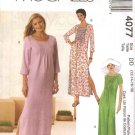 McCall&#39;s Sewing Pattern 4077 Misses Size 12-18 Pullover Loose Fitting Dress Pintucked Bodice