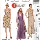 McCall's Sewing Pattern 4108 Misses Size 8-14 1-Hour Bias Long Short Dress Jumper