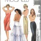 McCall's Sewing Pattern 4112 Misses Size 16-22 Full Half Long Short Slips Petticoat Lingerie