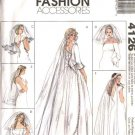 McCall's Sewing Pattern 4126 Wedding Bridal Blusher Veils Headpieces