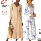 McCall's Sewing Pattern 4132 Misses Size 12-18 Easy Button Front Princess Seam Dress