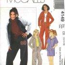 McCall's Sewing Pattern 4149 Girls Size 7-12 Knit Wardrobe Zipper Front Hooded Jacket Shorts Pants