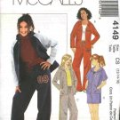 McCall's Sewing Pattern 4149 Girls Size 12-16 Knit Wardrobe Zipper Front Hooded Jacket Shorts Pants