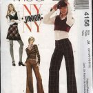 McCall's Sewing Pattern 4156 Junior Size 11/12-17/18 NYNY Wardrobe Pullover Tops Skirt Pants