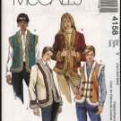McCall's Sewing Pattern 4158 Misses Size 4-14 Lined Fur Trimmed Appliqued Vest Jackets