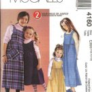 McCall's Sewing Pattern 4160 Girls Size 3-6 Raised Waist Jumpers